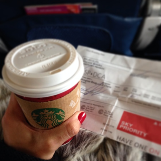 You gotta have a Starbucks for the flight, right?